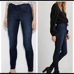 NEW EXPRESS LACE UP HIGH WAIST SKINNY JEAN